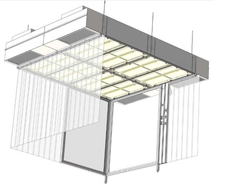 Vertical laminar flow unit VLF-system