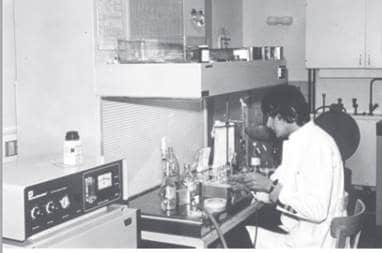 First biological safety cabinet 1969
